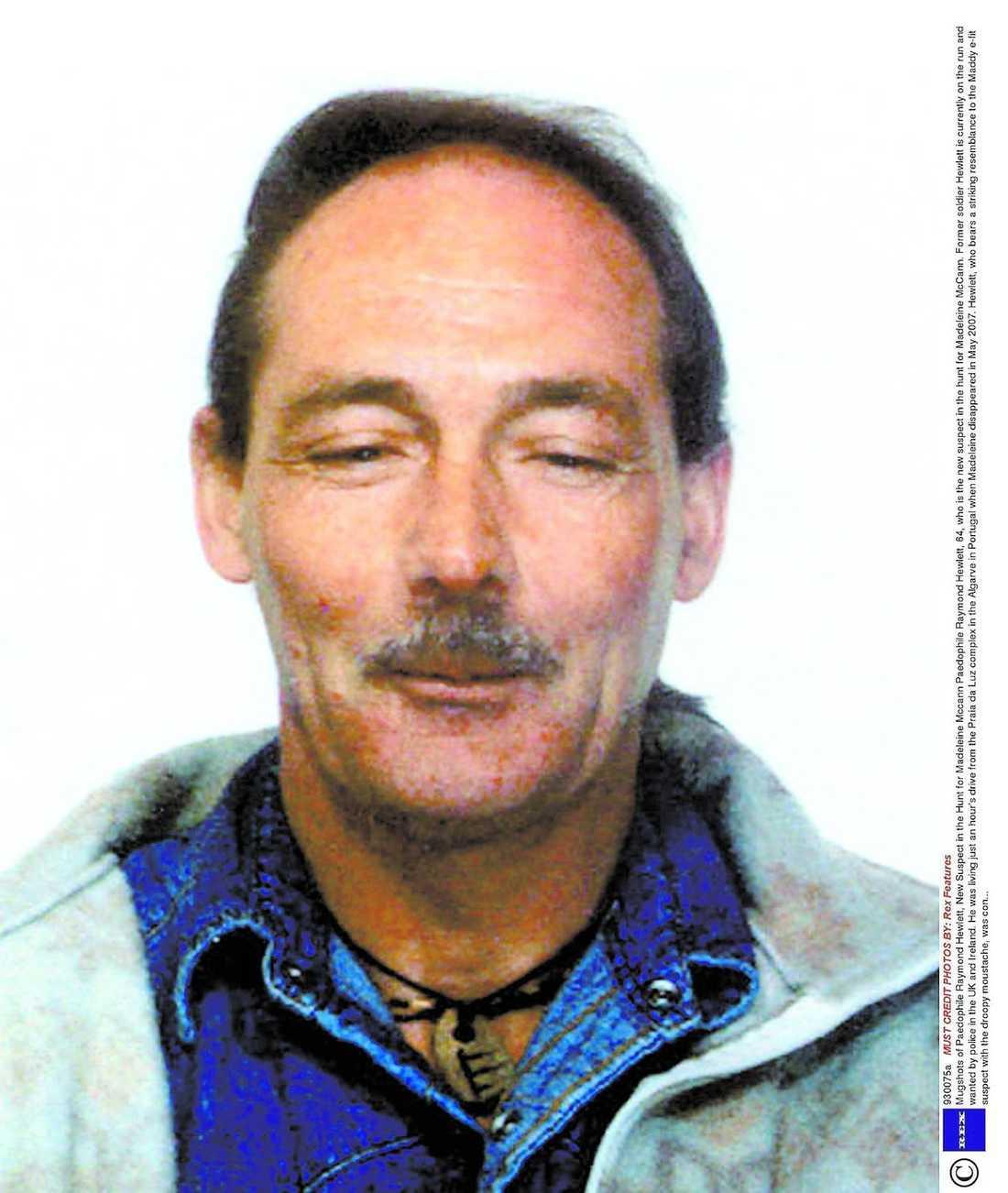 Misstänkt Pedofilen Raymond Hewletts är lik fantombilden som tagits fram efter ett vittnes beskrivning. Hewlett är svårt sjuk och vårdas på sjukhus. Nu hoppas polisen att han ska samarbeta.
