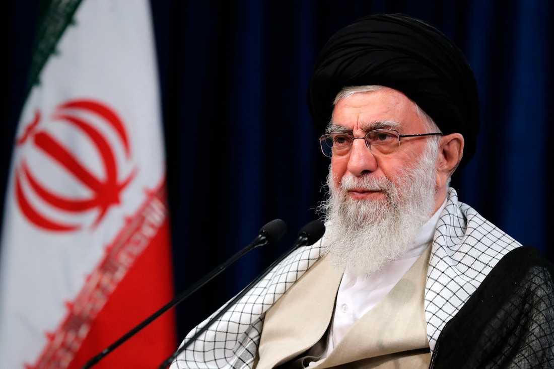 Irans högste ledare ayatolla Ali Khamenei. Arkivbild.