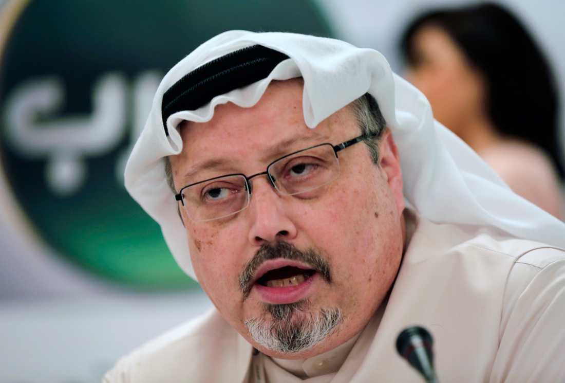 Den regimkritiske saudiske journalisten Jamal Khashoggi. Arkivbild.