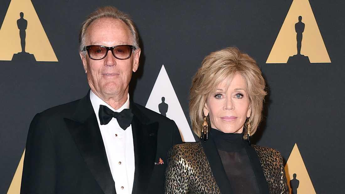 Peter Fonda med sin syster Jane Fonda 2015.