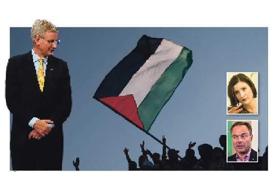 sätt ner foten Det är dags att Carl Bildt tar tag i Palestina-frågan, i stället för att låta Folkpartiet, med Birgitta Ohlsson och Jan Björklund i spetsen, styra.