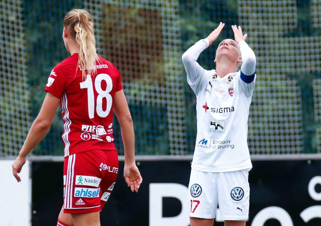När får Rosengårds Caroline Seger spela allsvensk fotboll igen? Arkivbild.