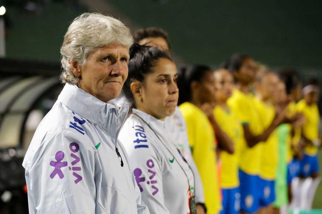 Pia Sundhage hoppas få leda Brasiliens landslag fram till 2023. Arkivbild.