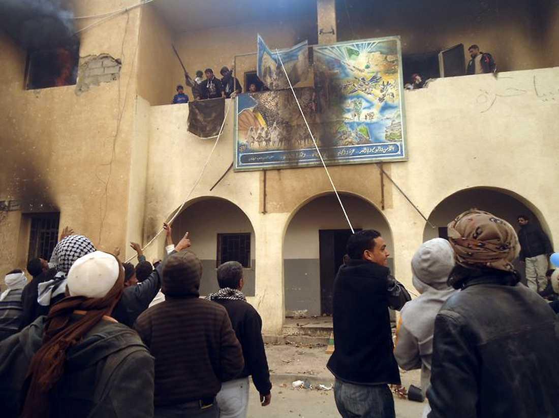 Gadaffis tal lär bara ha eldat upp de rasande demonstranterna ännu mer.