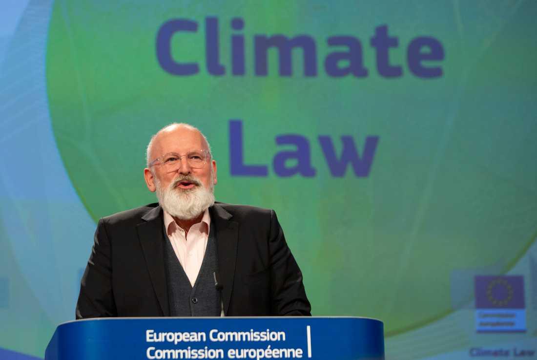 EU:s klimatansvarige förste viceordförande Frans Timmermans. Arkivfoto.
