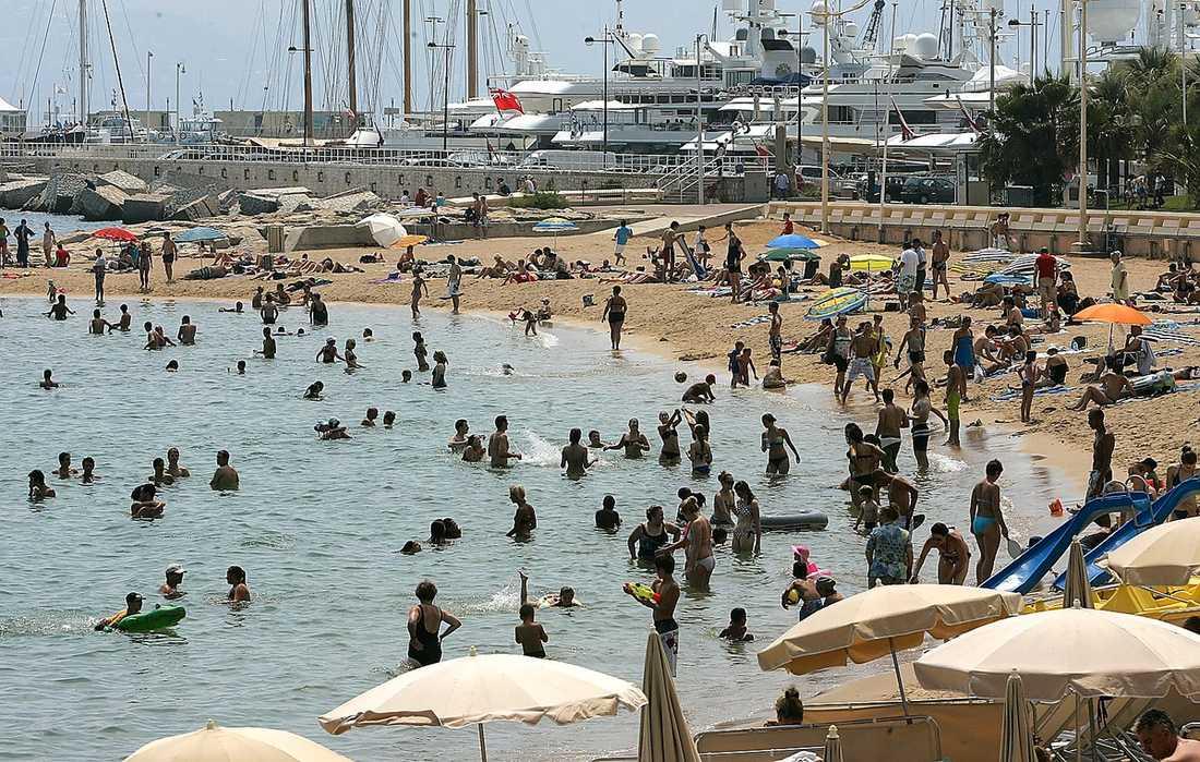 Cannes Svajande palmer och svenska politiker. Så ser kombon ut i nästa vecka på den franska rivieran.