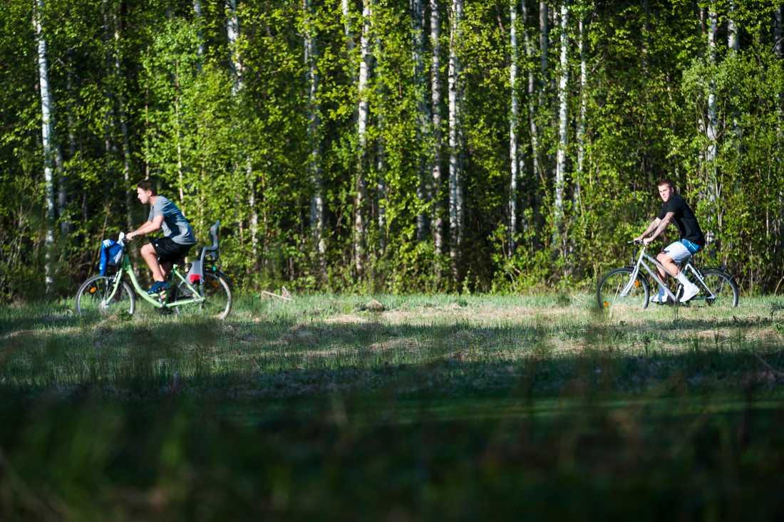 Justin Bieber på cykeltur i Norrbotten.