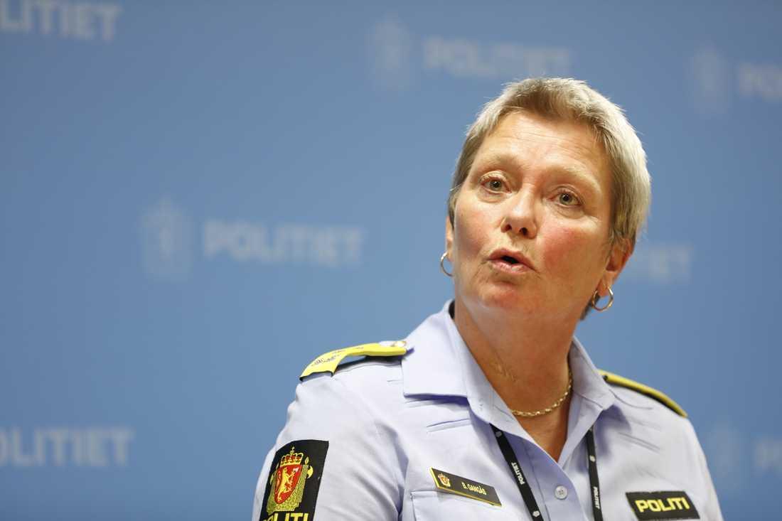 Oslos polischef Beate Gangås under presskonferensen på torsdagen.