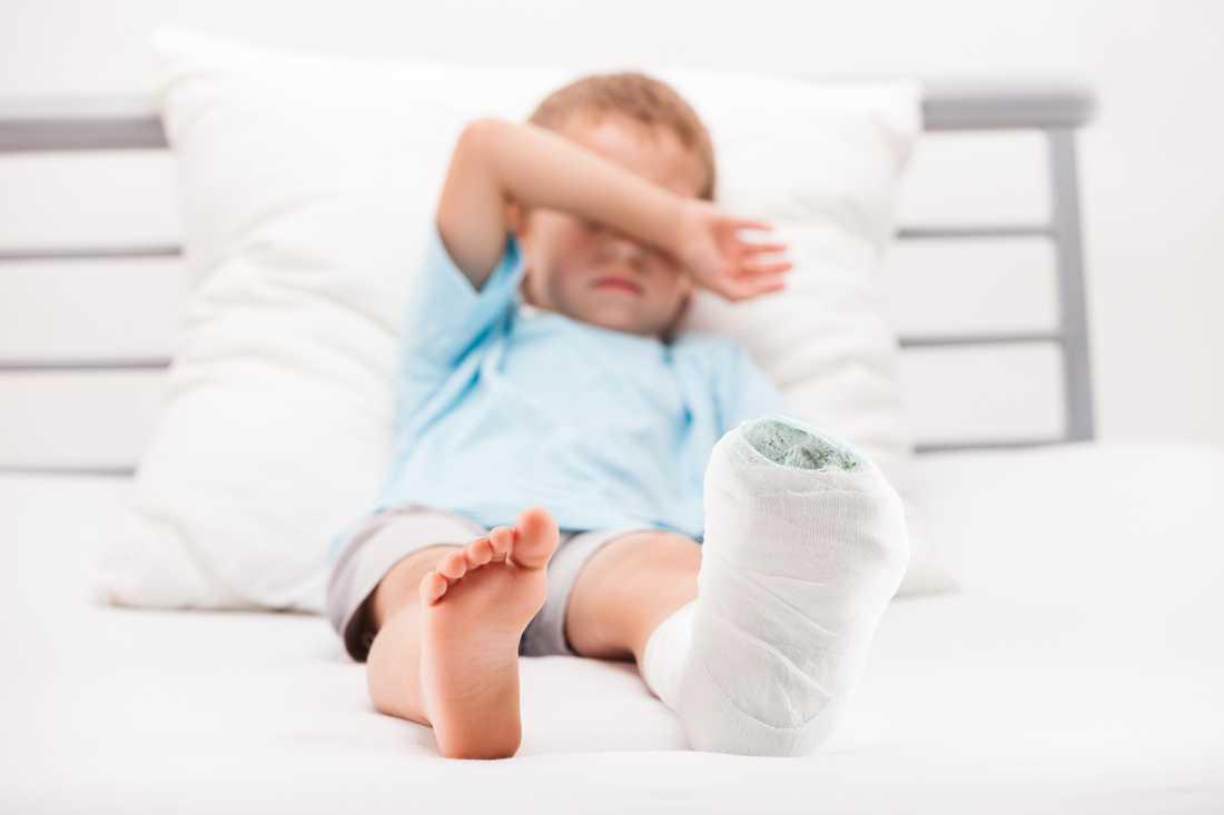 Det kan ta längre tid att få tid för operation för benbrott för barn.