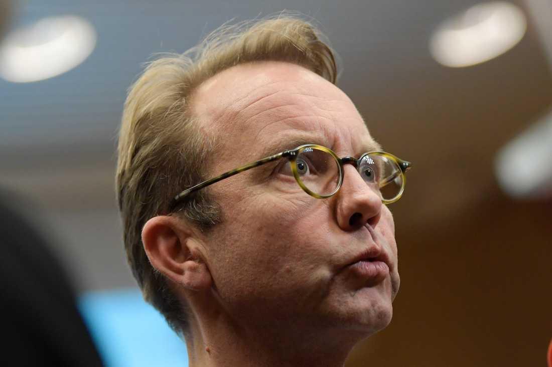 Björn Eriksson, hälso- och sjukvårdsdirektör i Region Stockholm, på en pressträff tidigare i veckan.