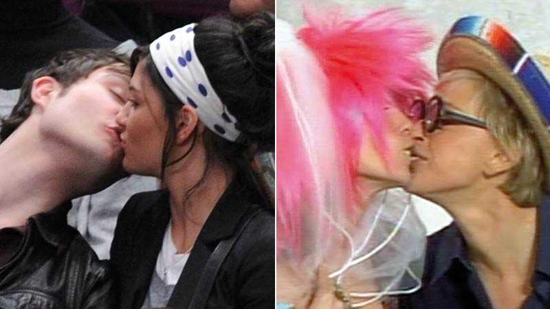 """Nytt par – och plojkyss Ed Westwick och Jessica Szohr från """"Gossip girl"""" visar nu upp för hela världen att de är ett par. Heidi Klum och Ellen DeGeneres skojkysser varandra i tv."""
