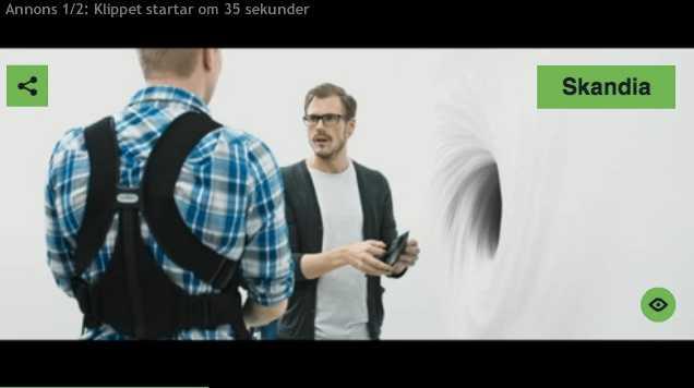 EXPONERAS Bland annat visas försäkringsbolaget Skandias reklam när man klickar på ett av Aftonbladets tv-klipp Avpixlat publicerar.