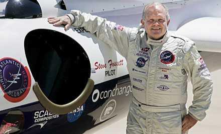 Äventyraren och rekordflygaren Steve Fossett.