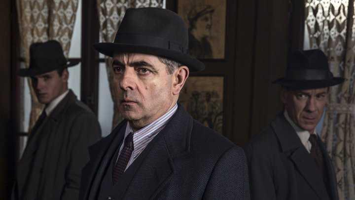 "Rowan Atkinson i ""Kommissarie Maigret""."