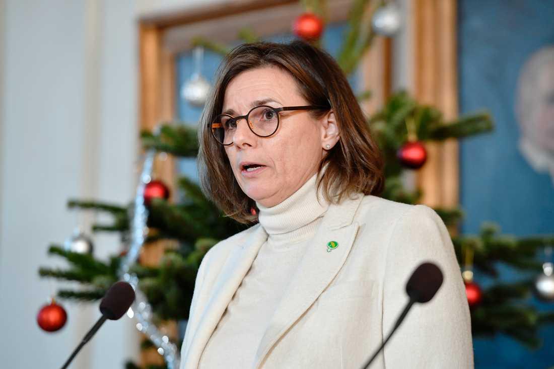 Vice statsminister Isabella Lövin.