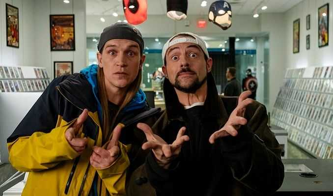 "Jason Mewes och Kevin Smith i ""Jay and Silent Bob reboot""."