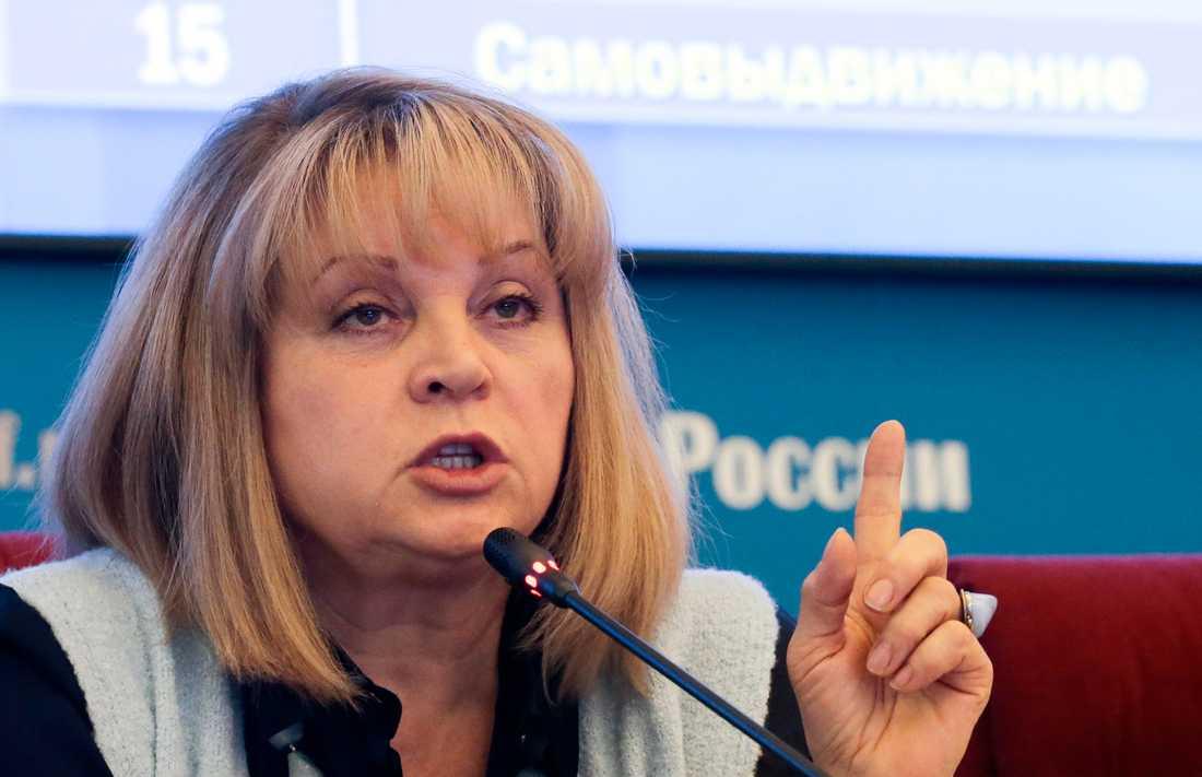 Ella Pamfilova är chef för den ryska centrala valkommissionen. Arkivbild.