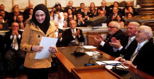 Doaa i Wien, där hon tilldelades en utmärkelse av Opecs fond för internationell utveckling.