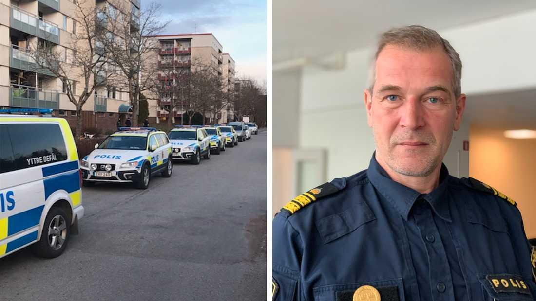 Daniel Larsson, polisinsatschef för Operation Rimfrost i Uppsala.