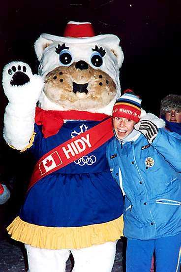 Magda på JVMi Kanada - som längdåkare.