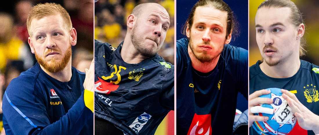 Jim Gottfridsson, Andreas Nilsson, Kim Ekdahl Du Rietz och Lukas Nilsson.