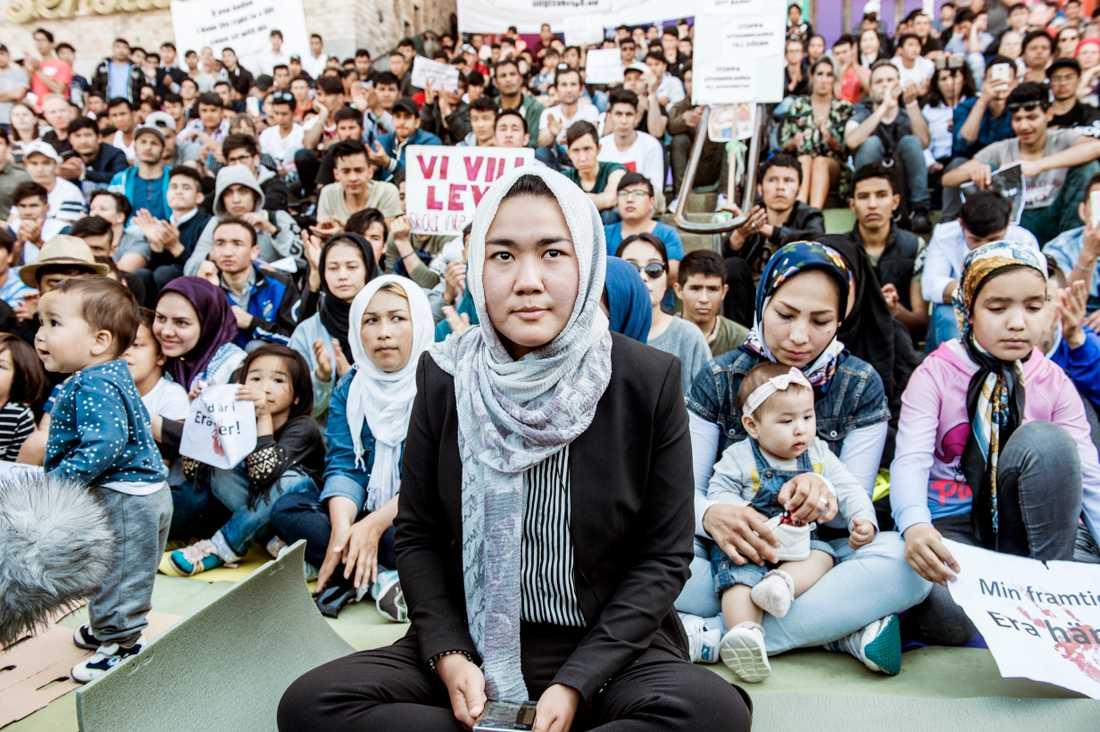 Fatemeh Khavari är talesperson för nätverket Ung i Sverige, som förra året genomförde en uppmärksammad manifestation för att stoppa utvisningar till Afghanistan.