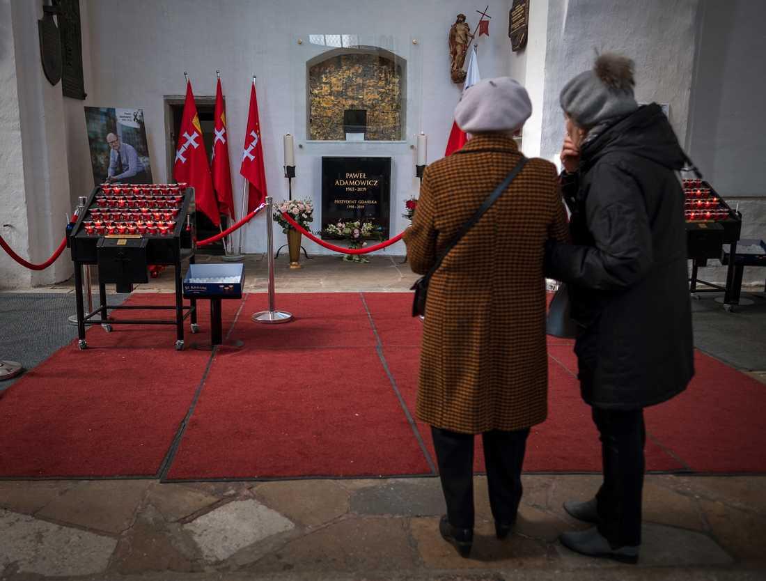 Pawel Adamowicz ligger begravd i den mest kända kyrkan i Gdansk.