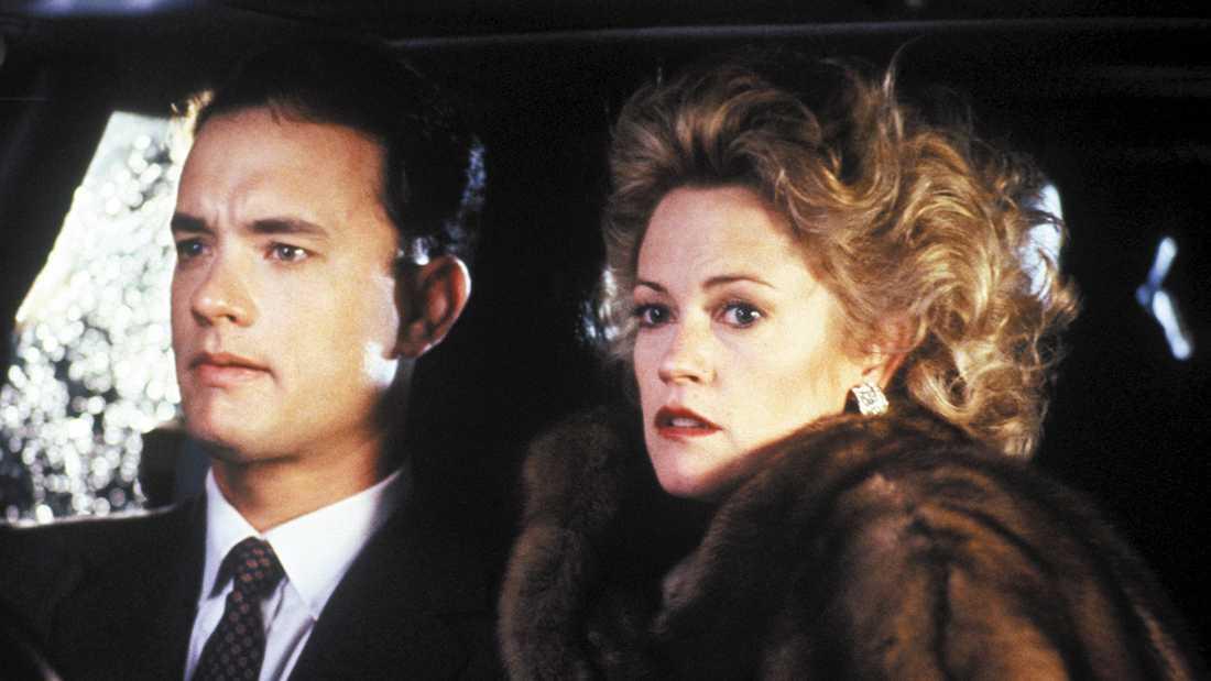 """Tom Hanks och Melanie Griffith i filmen """"Fåfängans fyrverkeri""""."""