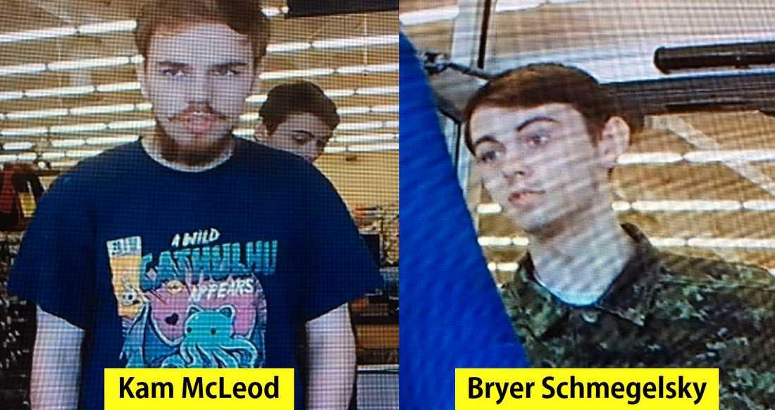 Kam McLeod, 19, och Bryer Schmegelsky, 18, är misstänkta för morden.