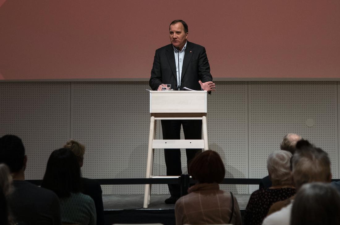 Statsminister Stefan Löfven (S) på Sverigeturné.
