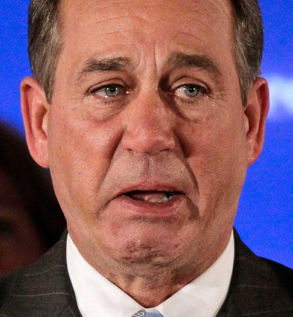 GRÄT AV LYCKA Republikanen John Boehner tar över som ny talman i representanthuset.