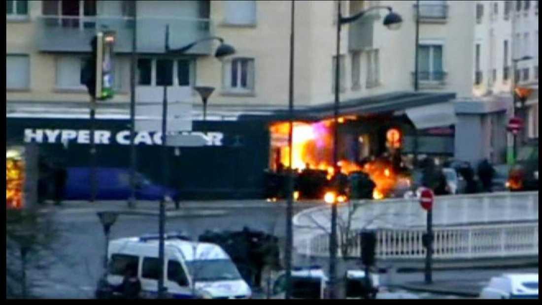Attacken mot judiska butiken i Paris.