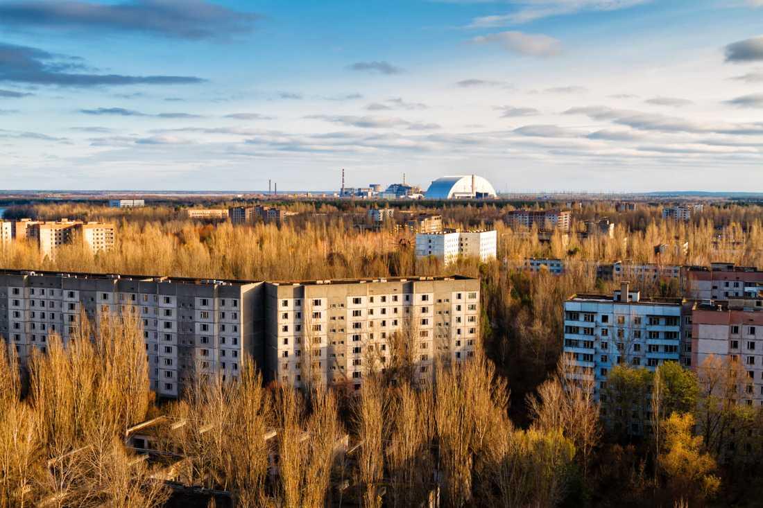 Området runt Tjernobyl har blivit en spökstad sedan olyckan.
