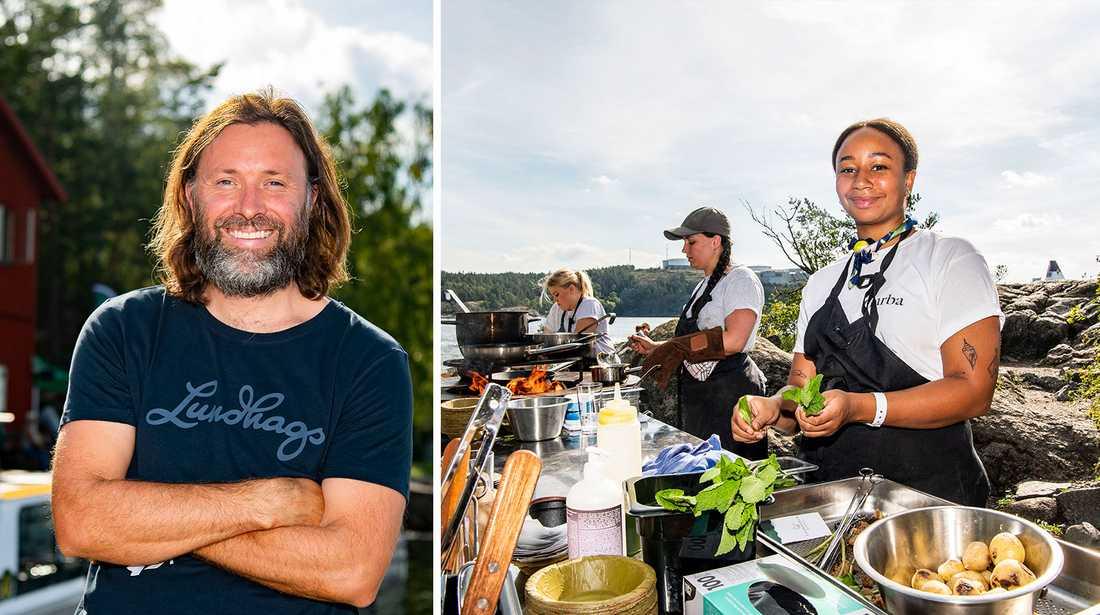 Niklas Ekstedt ligger bakom Foodstock-festivalen som ägde rum i helgen. Hantverkare delade plats med toppkockar från hela världen, däribland Marion Ringborg från krogen Garba.
