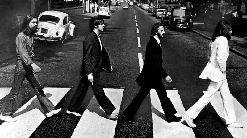 Det klassiska omslagsfotot av Beatles på Abbey Road togs 1969.