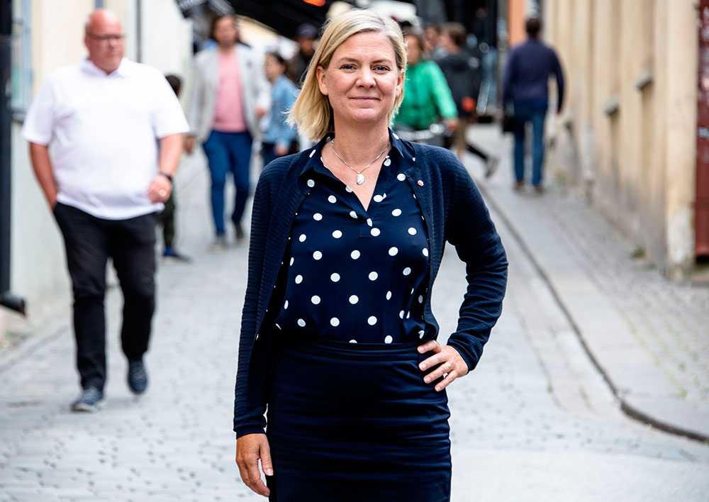 Finansminister Magdalena Andersson i Almedalen.