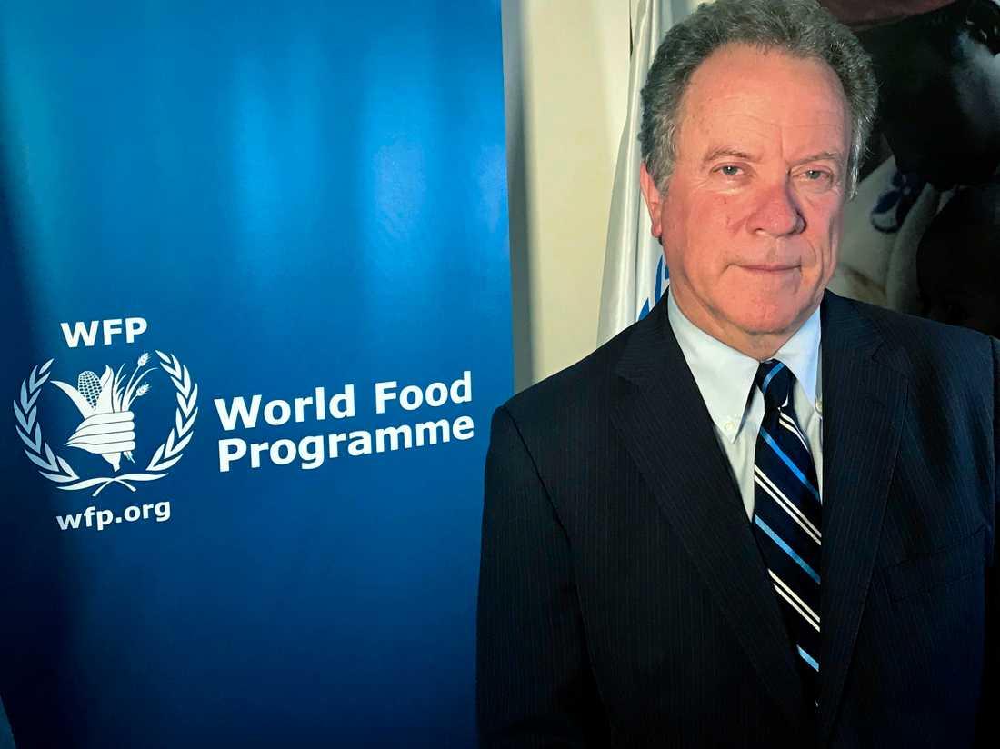 David Beasley, chef för FN:s livsmedelsprogram WFP. Arkivbild.