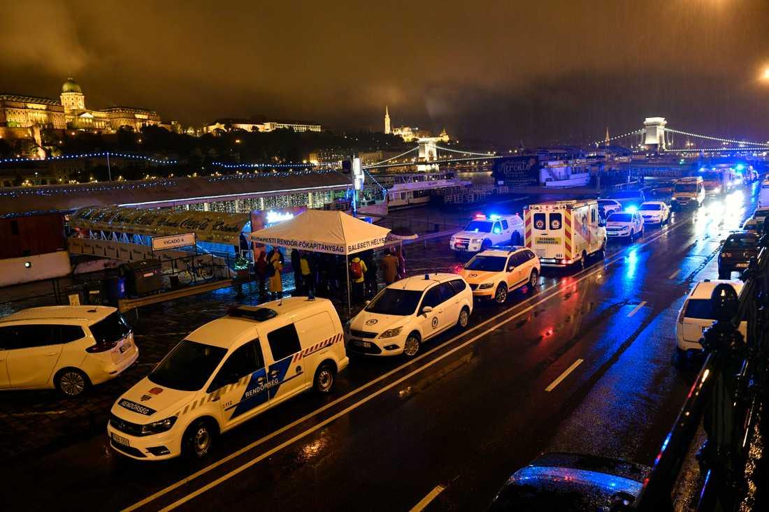 Räddningspådrag vid Donau.