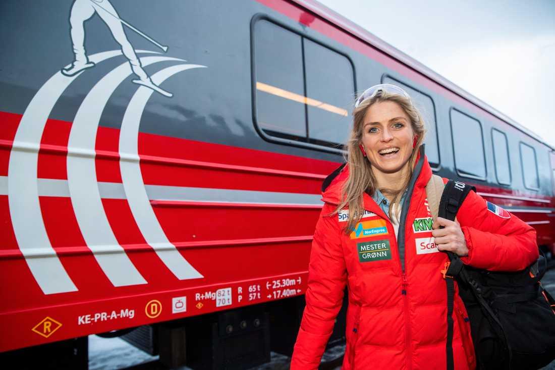 Norska skidstjärnan Therese Johaug gillade både tävlingsformerna i Ski Tour 2020, och upplägget att åkarna tvingades ta tåget mellan etapperna.