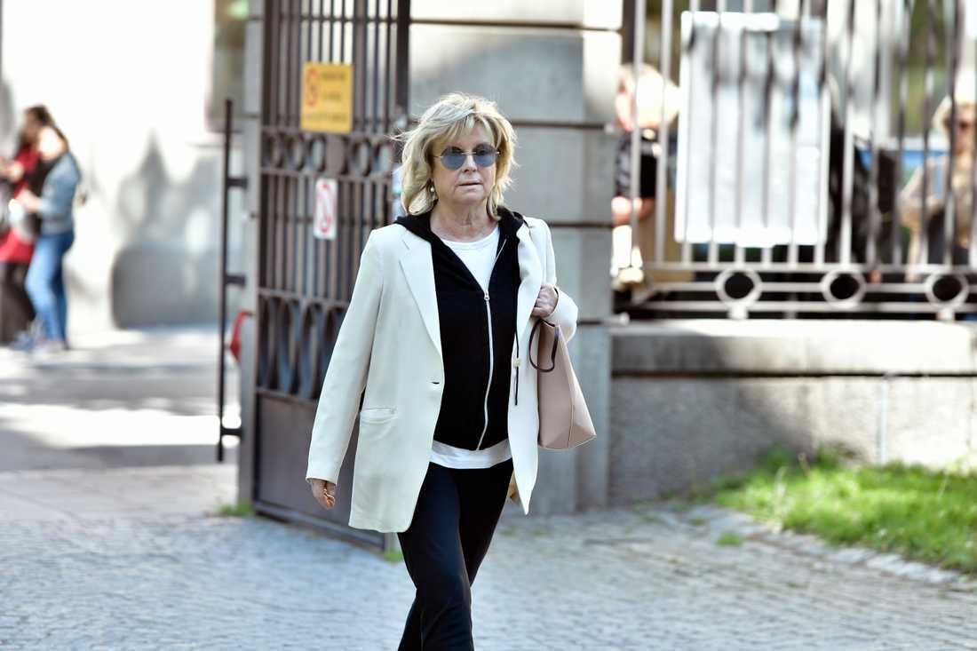 Vännen och skådespelarkollegan Grynet Molvig kom för att ta adjö av Bibi Andersson.