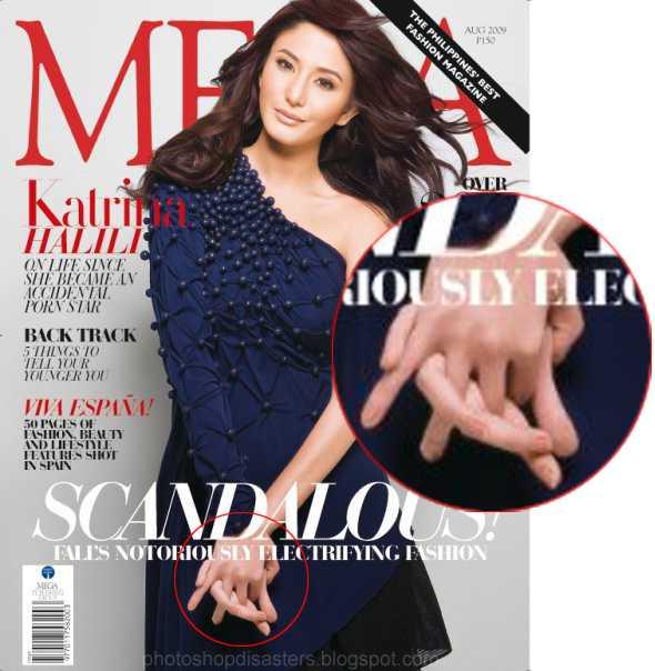 Filippinska modemagasinet Mega Magazine har retucherat omslagsbilden. Liksom de flesta modemagasin gör. Men vad hände med modellens händer egentligen?