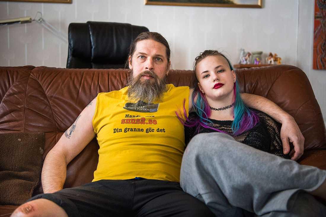 Björn Kling tillsammans med 15-åriga dottern Tanya.