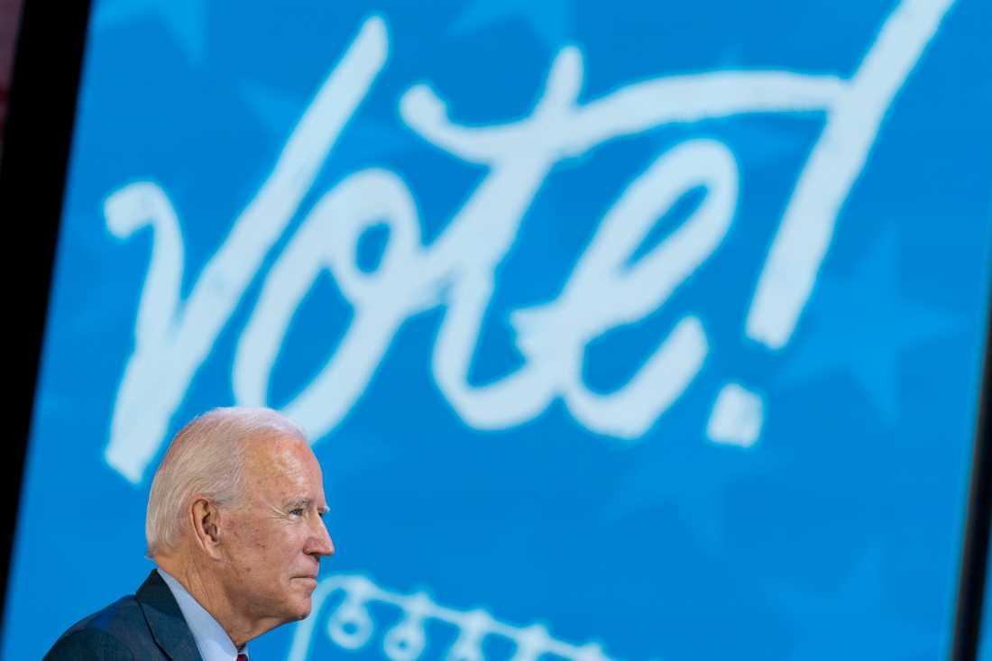 USA:s president Joe Biden vill göra det lättare att rösta. Arkivbild.