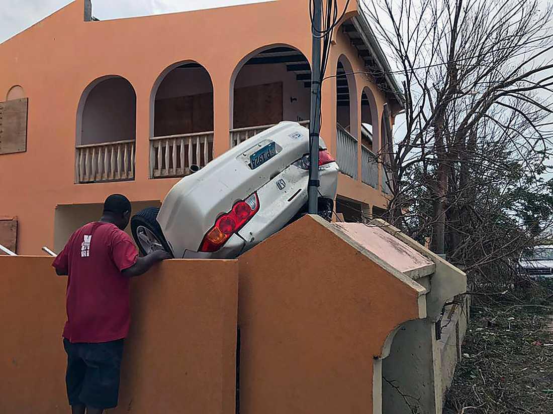 Anguilla efter att Irma passerat.