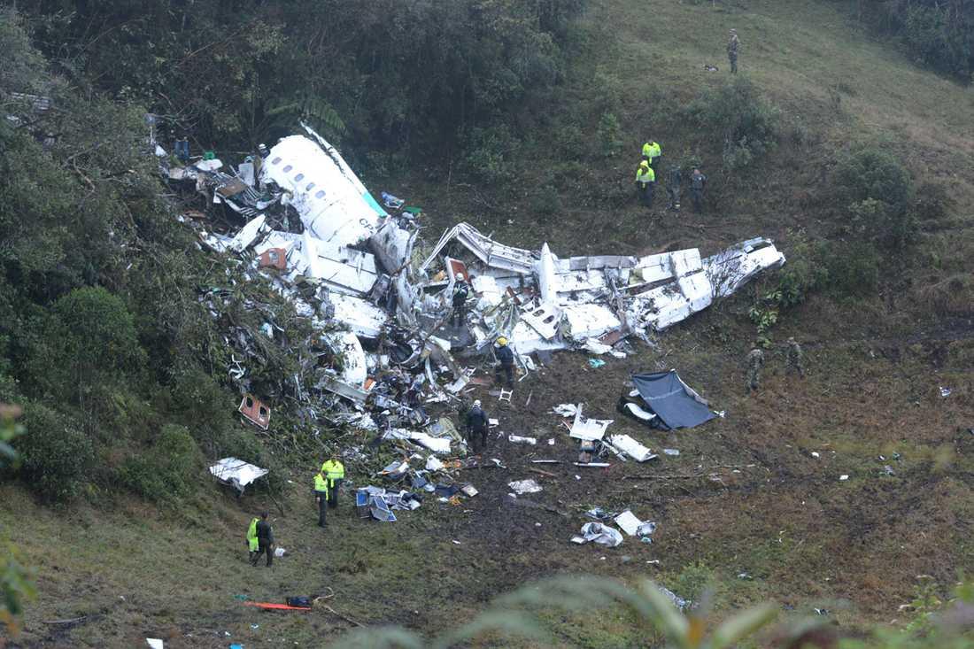 Här är första bilden i dagsljus som visar flygplansvraket.