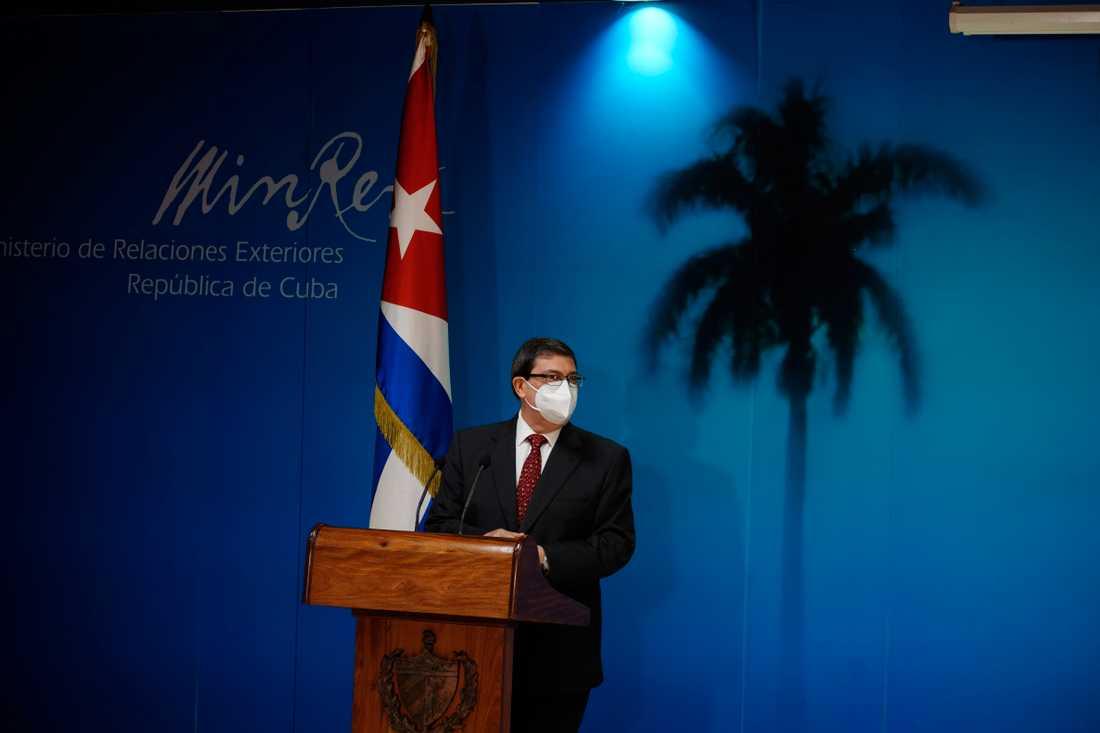 Kubas utrikesminister Bruno Rodríguez Parrilla presenterade den årliga rapporten om effekten av de amerikanska sanktionerna mot landet.
