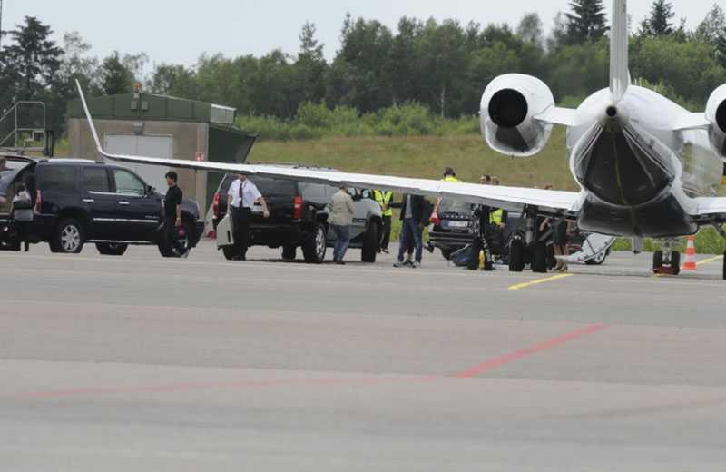 STJÄRNAN HAR LANDAT Klockan 14.55 på onsdagen landade Madonna med privatplan på Landvetter.