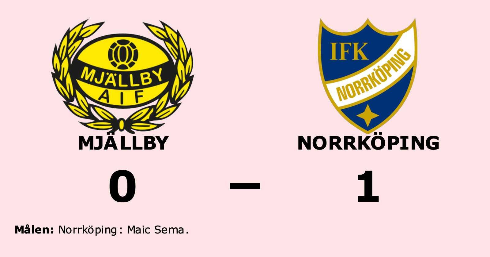 Norrköping slog Mjällby med uddamålet