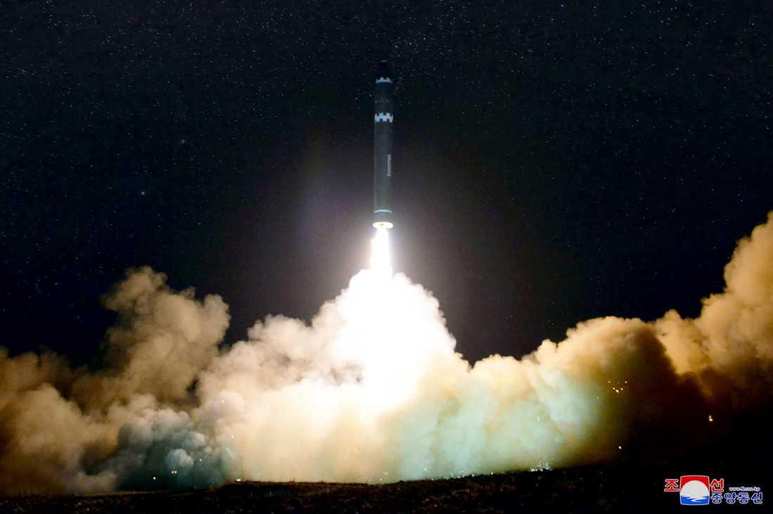 Bilden på raketuppskjutningen den 29 november.