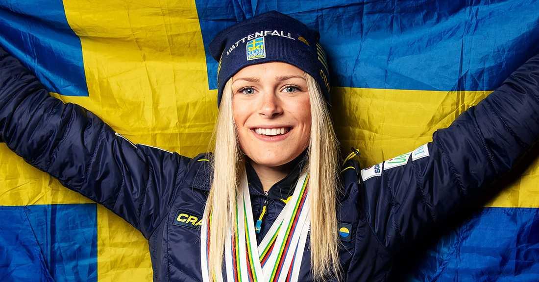 Frida Karlsson överraskade alla i VM.